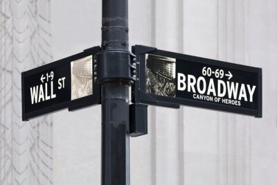 Väggdekor Broadway uns Wall Street i New York