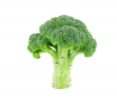 Väggdekor Broccoli isolera på vit med klippning