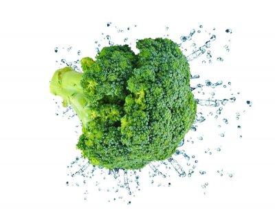 Väggdekor broccoli splash isolerade