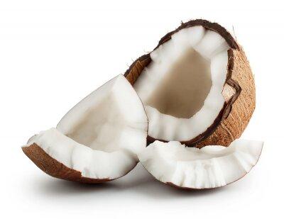 Väggdekor Brutna rå mogen kokosnöt