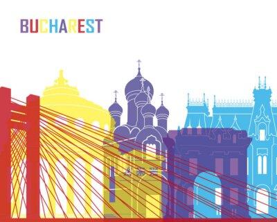 Väggdekor Bukarest horisont pop