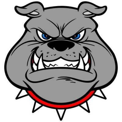 Väggdekor Bulldog Growl