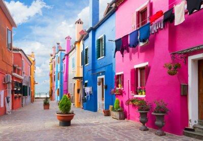 Väggdekor Burano ö, Venedig, Italien