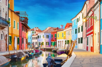 Väggdekor Burano Venedig Italien