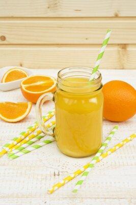 Väggdekor burk apelsinjuice