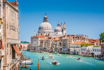 Väggdekor Canal Grande med Basilica di Santa Maria della Salute, Venedig, Italien