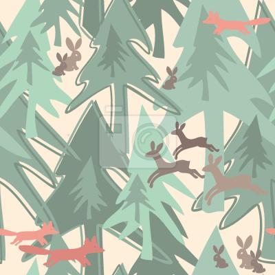 Väggdekor Change Säsong i skogen