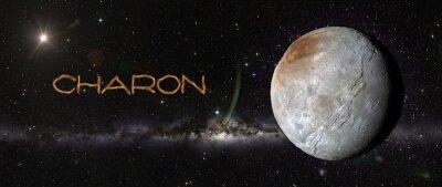 Väggdekor Charon i yttre rymden.