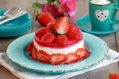 Väggdekor cheesecake med frukt