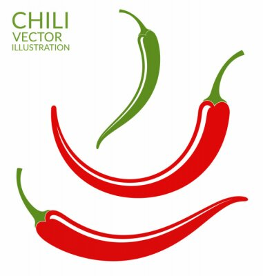 Väggdekor Chilipeppar