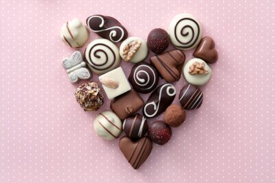 Väggdekor Choklad godis hjärta