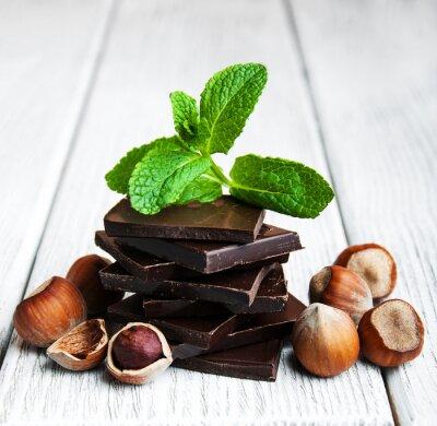 Väggdekor choklad med nötter
