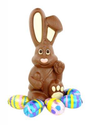 Väggdekor Chokladpåskharen och ägg