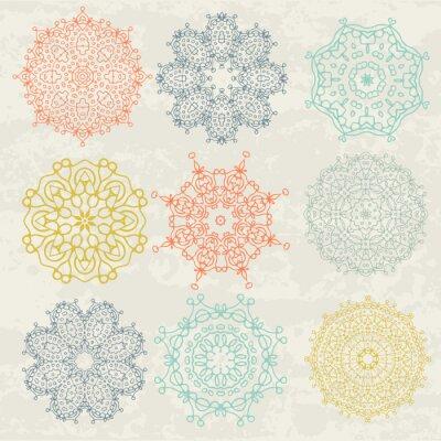 Väggdekor cirkulära mönster