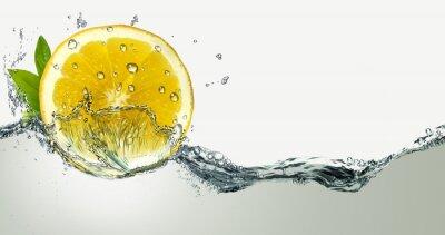 Väggdekor Citron och vattenstänk.