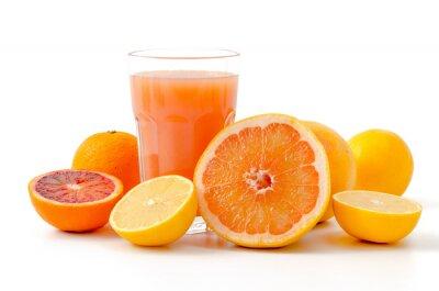 Väggdekor Citrusfrukter och juice
