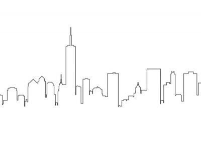 Väggdekor City landscape line