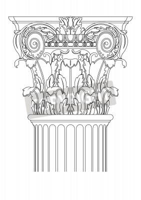 Väggdekor clasic kolonn