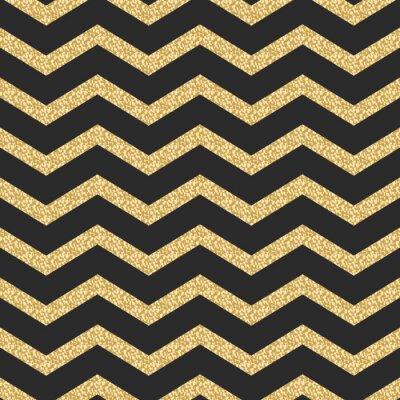 Väggdekor Classic Chevron rand glitter skimmer sömlösa vektor mönster.