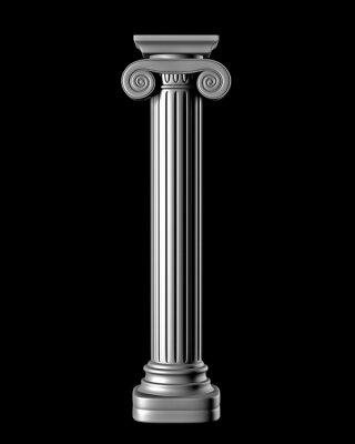 Väggdekor Classic Column på svart bakgrund