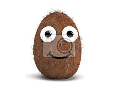 Väggdekor Coconut med ansiktet