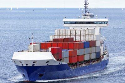 Väggdekor Containerfartyg på Östersjön nära Kiel