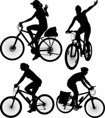 Väggdekor cykel silhuetter
