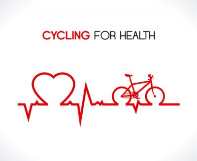 Väggdekor cykeldesign