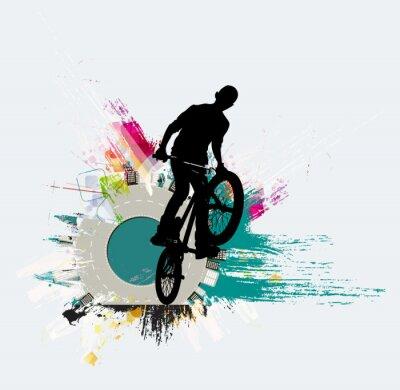 Väggdekor Cykeltröja, sportbakgrund