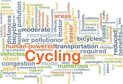 Väggdekor Cykling, bakgrund, begrepp