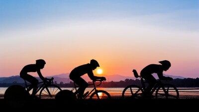 Väggdekor Cykling på skymning tid