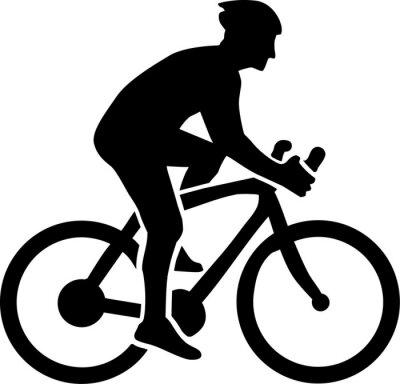 Väggdekor Cykling Silhouette