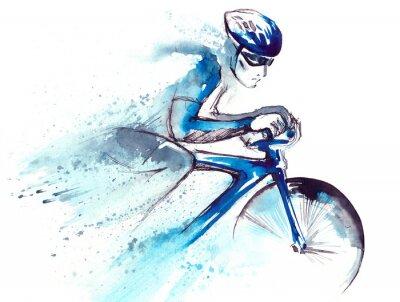 Väggdekor cyklisten