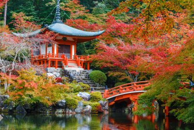 Väggdekor Daigoji Temple i Kyoto