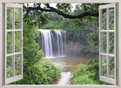 Väggdekor Dangar Falls visa i öppet fönster