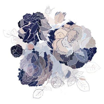 Väggdekor Dekorativa blommig bakgrund.