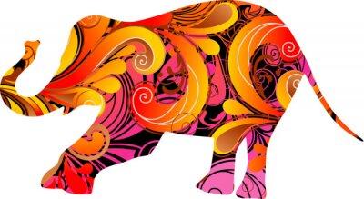 Väggdekor dekorativa elefant