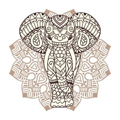 Väggdekor Dekorativa elefant illustration