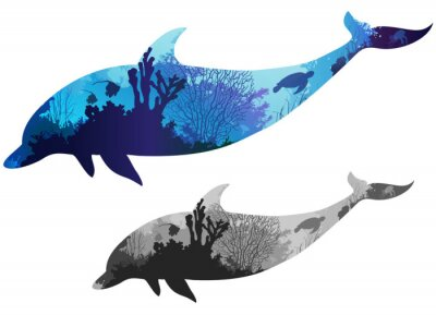 Väggdekor delfin