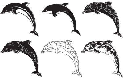 Väggdekor delfiner
