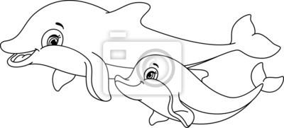 Väggdekor Delfiner målarbok