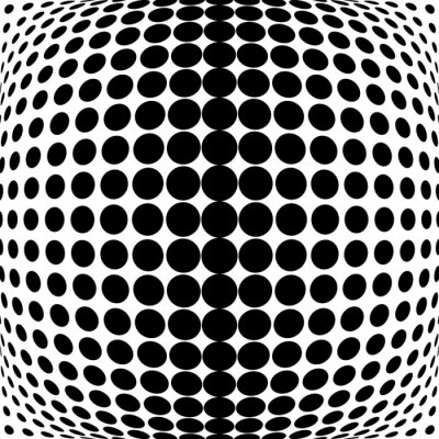 Väggdekor Design monokroma dotsbakgrund