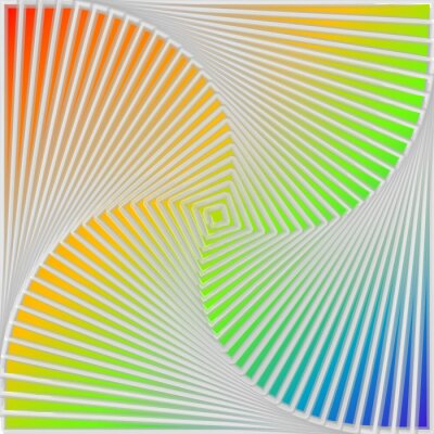 Väggdekor Design multicolor virvelrörelse illusion bakgrund