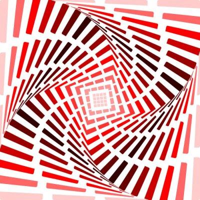 Väggdekor Design röd snurra rörelse illusion bakgrund. Abstrakt bandet till