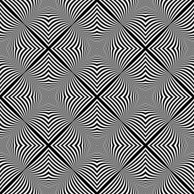 Väggdekor Design sömlös monokrom illusion bakgrund