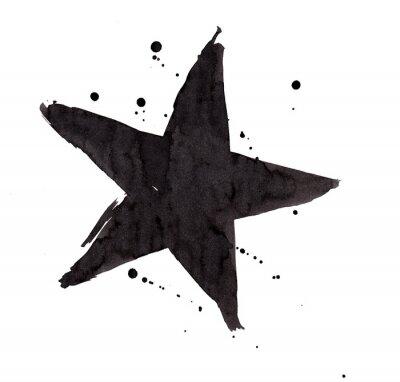 Väggdekor Designelement. Vintage grunge Retro stjärna.