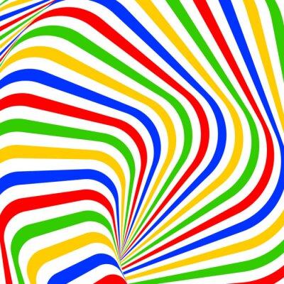 Väggdekor Designen färgrik virvelrörelse illusion bakgrund