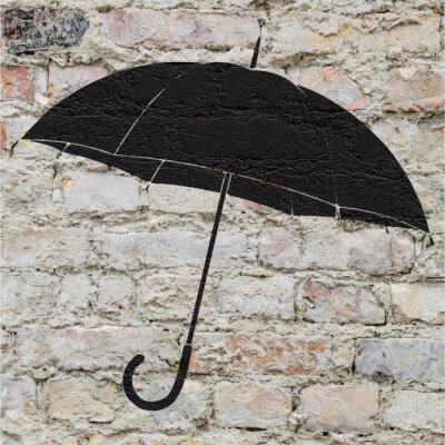 Väggdekor Dessin d'un parapluie sur un mur