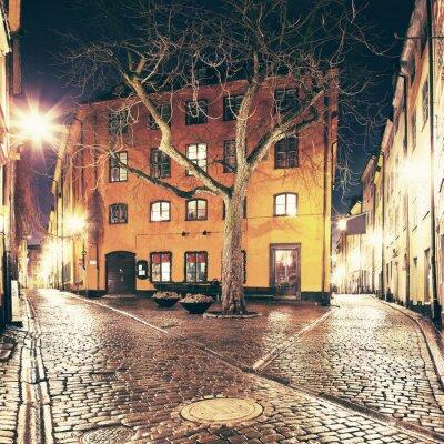 Väggdekor Det lilla torget någonstans i Gamla Stan, Stockholm.