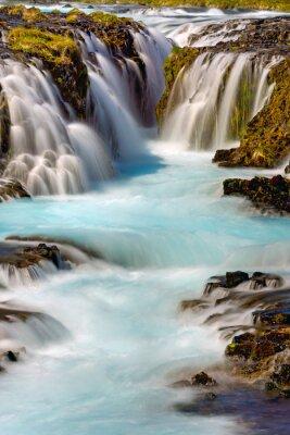 Väggdekor Detalj av Bruarfoss vattenfall i Island